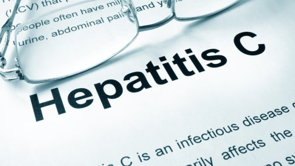 the words hepatitis C appearing on a page